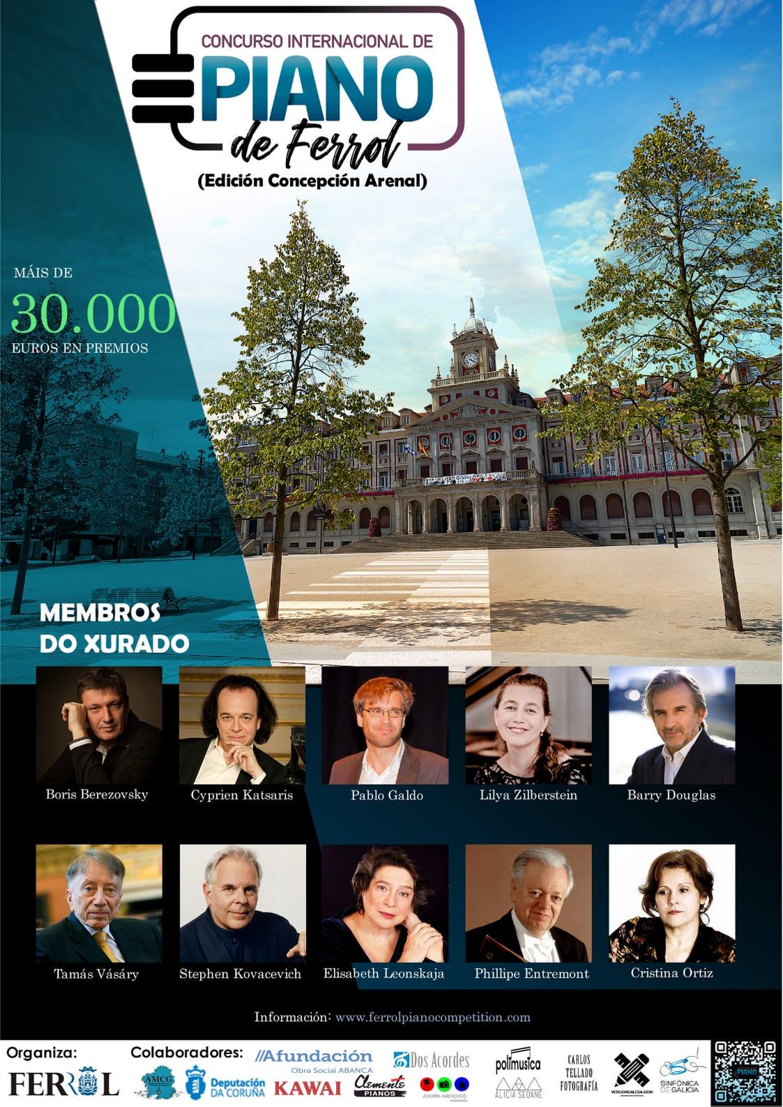 XXXII Concurso Internacional de Piano de Ferrol-Concerto do xurado