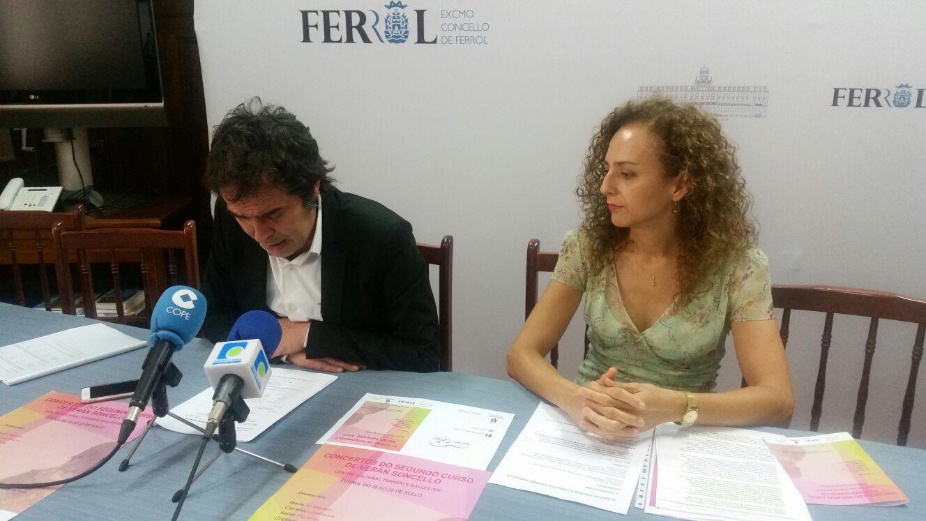 FERROL ACOLLE POR SEGUNDO ANO UN CURSO DE VIOLONCHELO NO TORRENTE BALLESTER