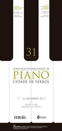 O PREMIO INTERNACIONAL DE PIANO CIDADE DE FERROL CELEBRA A 31ª EDICIÓN CON 22 MÚSICOS DE 12 ESTADOS