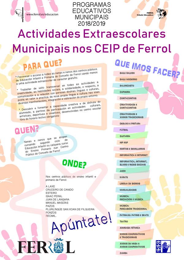 Actividades extraescolares nos CEIP 2017/2018