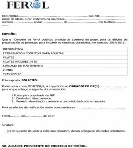 Anuncio selección de profesionais para impartir obradoiros na Concellería de Igualdade e Xuventude no curso 2014/2015