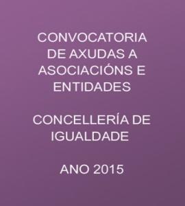 CONVOCATORIA DE AXUDAS A ASOCIACIÓNS E ENTIDADES
