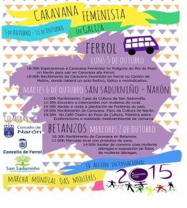 Caravana feminista en Galiza
