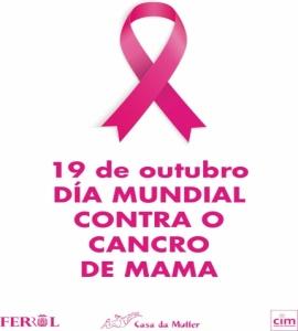 19 de outubro. Día Mundial Contra o Cancro de Mama