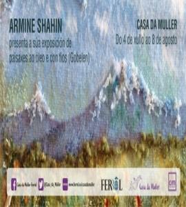 Exposición Armine Shahin. paisaxes ao óleo e con fíos