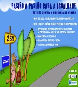 DOMINGO 30 DE NOVEMBRO E DOMINGO 14 DE DECEMBRO, ROTEIROS POLA IGUALDADE
